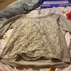 Long sleeve gray t-shirt